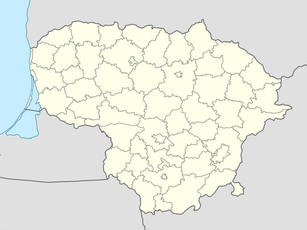 Liettua Kartta Vector Kartta Liettuan Vektori Pohjois Eurooppa