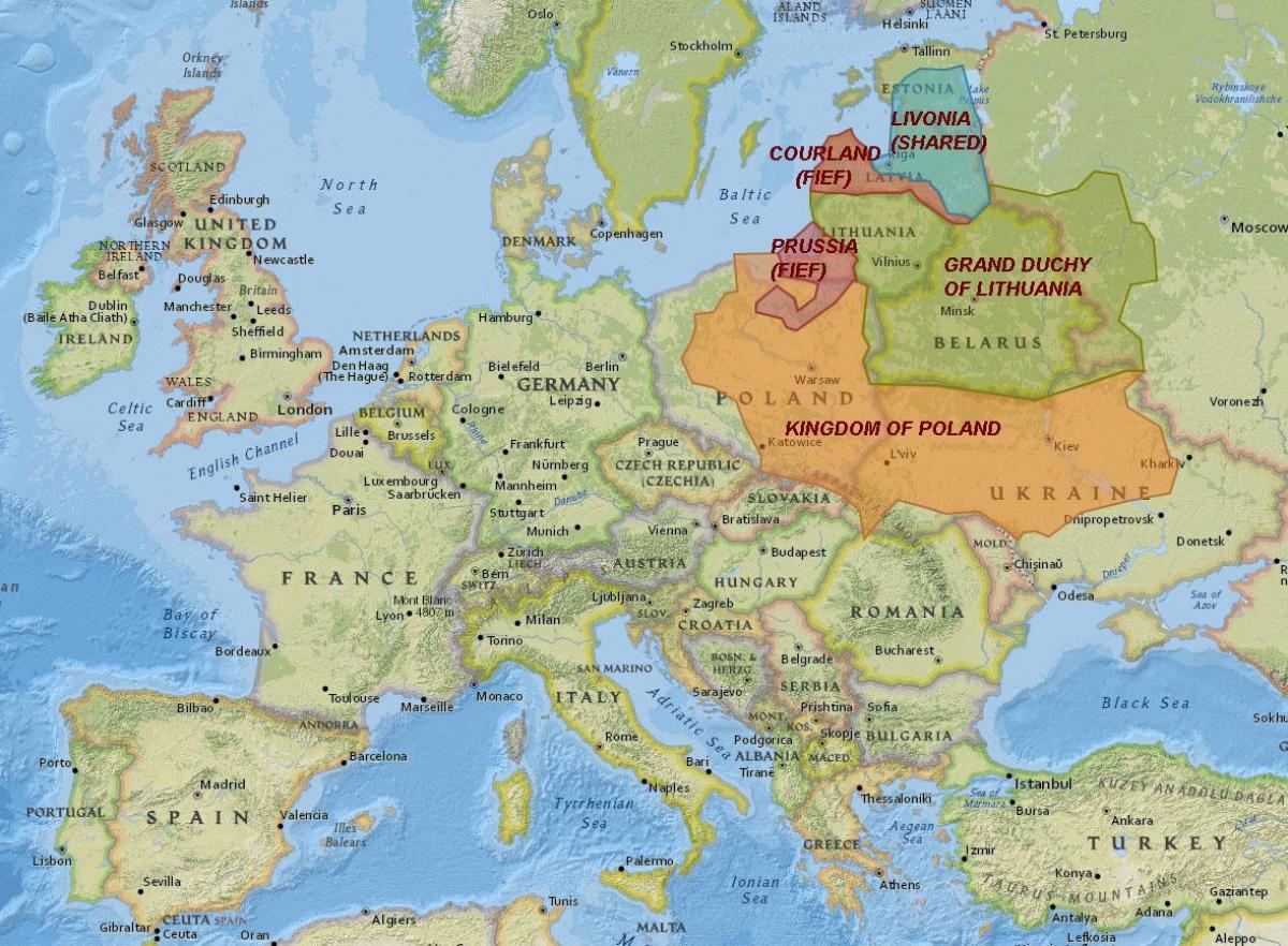 Liettuan Historia Kartta Kartta Liettuan Historia Pohjois