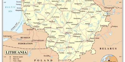 Liettua Kartta Kartat Liettua Pohjois Eurooppa Eurooppa
